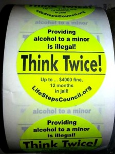 Think Twice Stickers