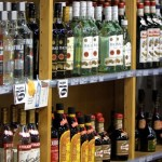 Shelves of liquor